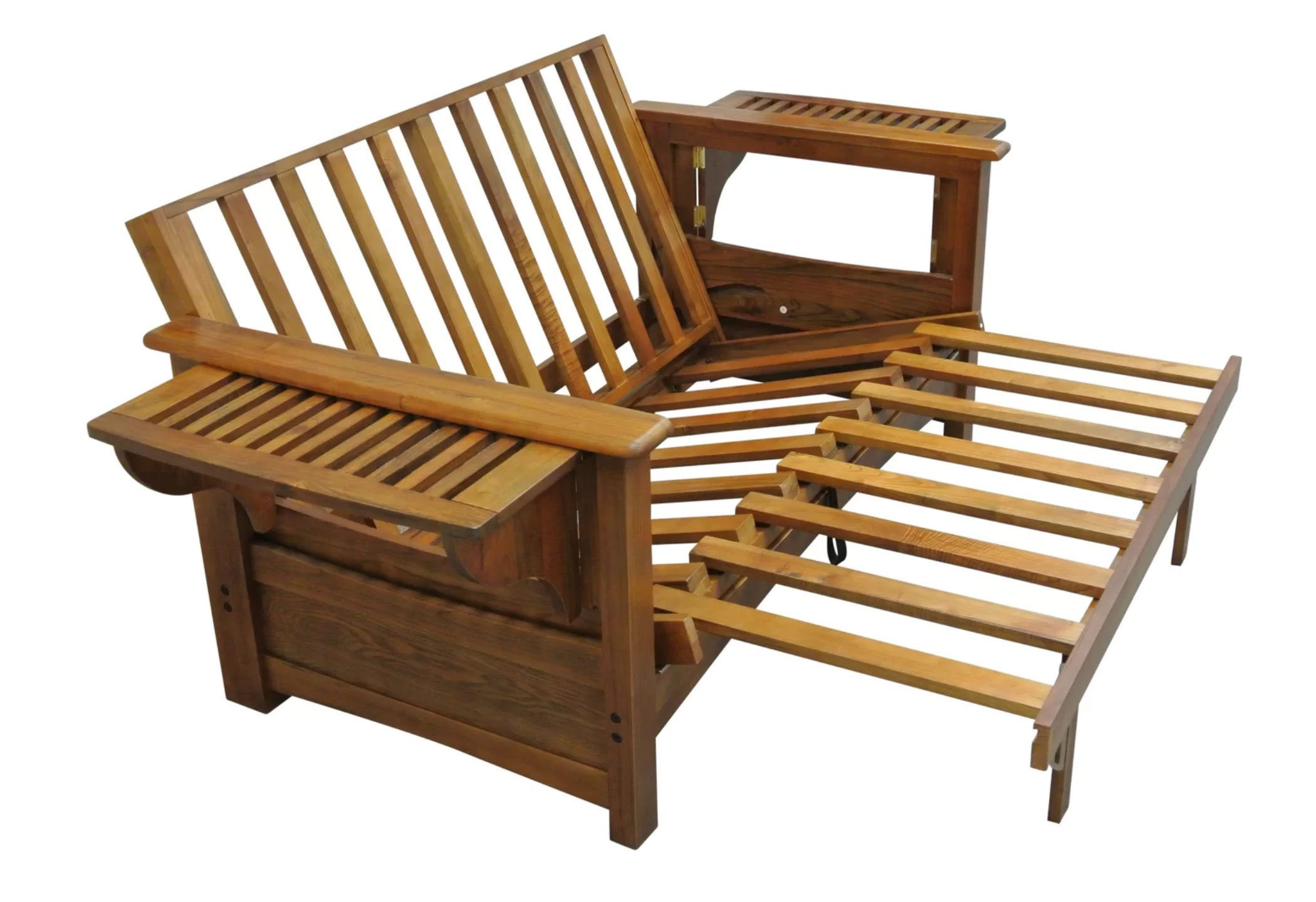 Burlington Cherry Oak Futon Frame By Gold Bond