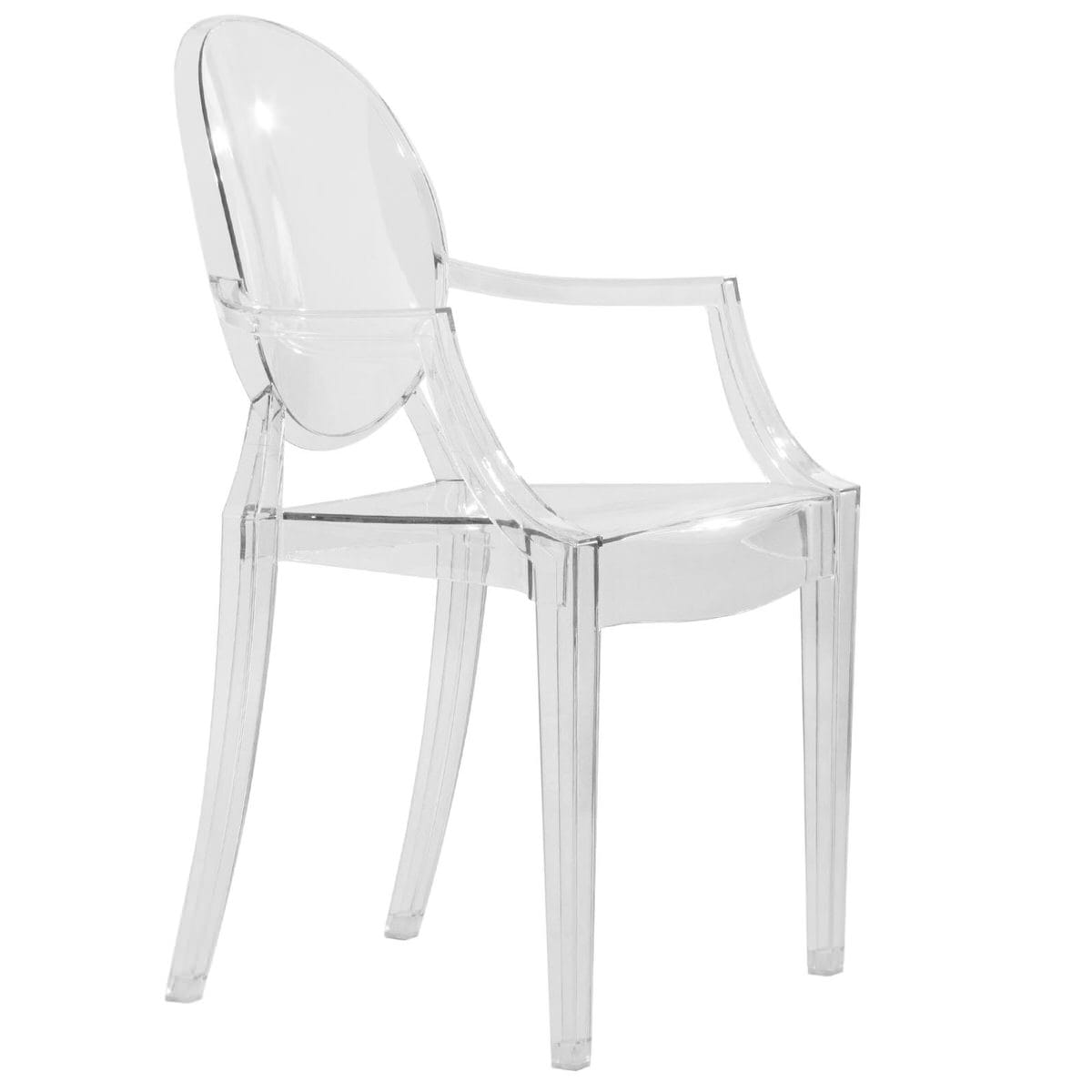 Swell Carroll Modern Clear Acrylic Chair By Leisuremod Spiritservingveterans Wood Chair Design Ideas Spiritservingveteransorg