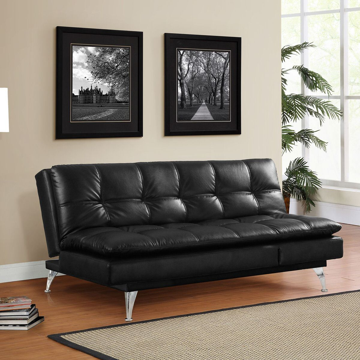 Gabrielle Living Room: Gabrielle Setra Sofa Bed Black By Lifestyle Solutions