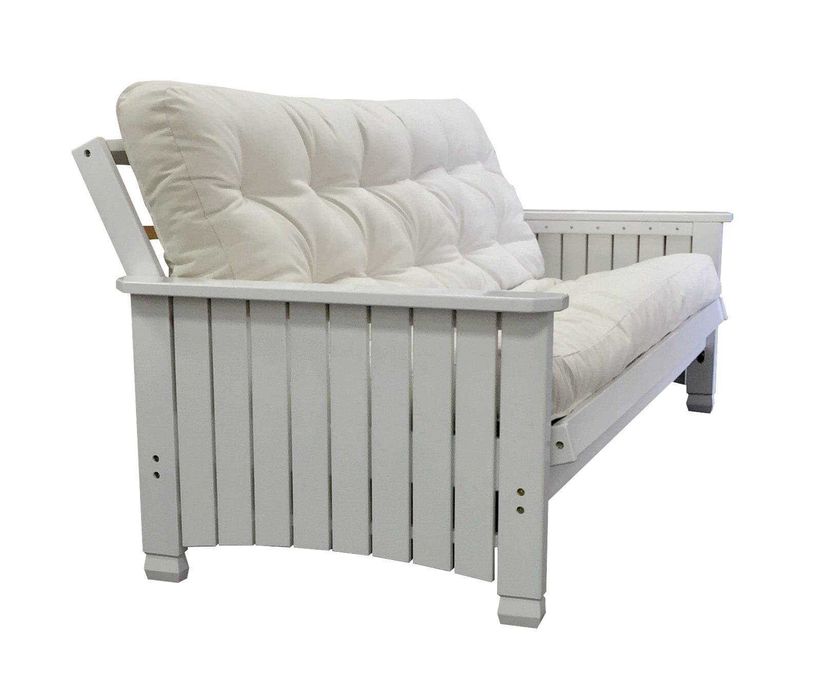 charleston white full futon frame by gold bond