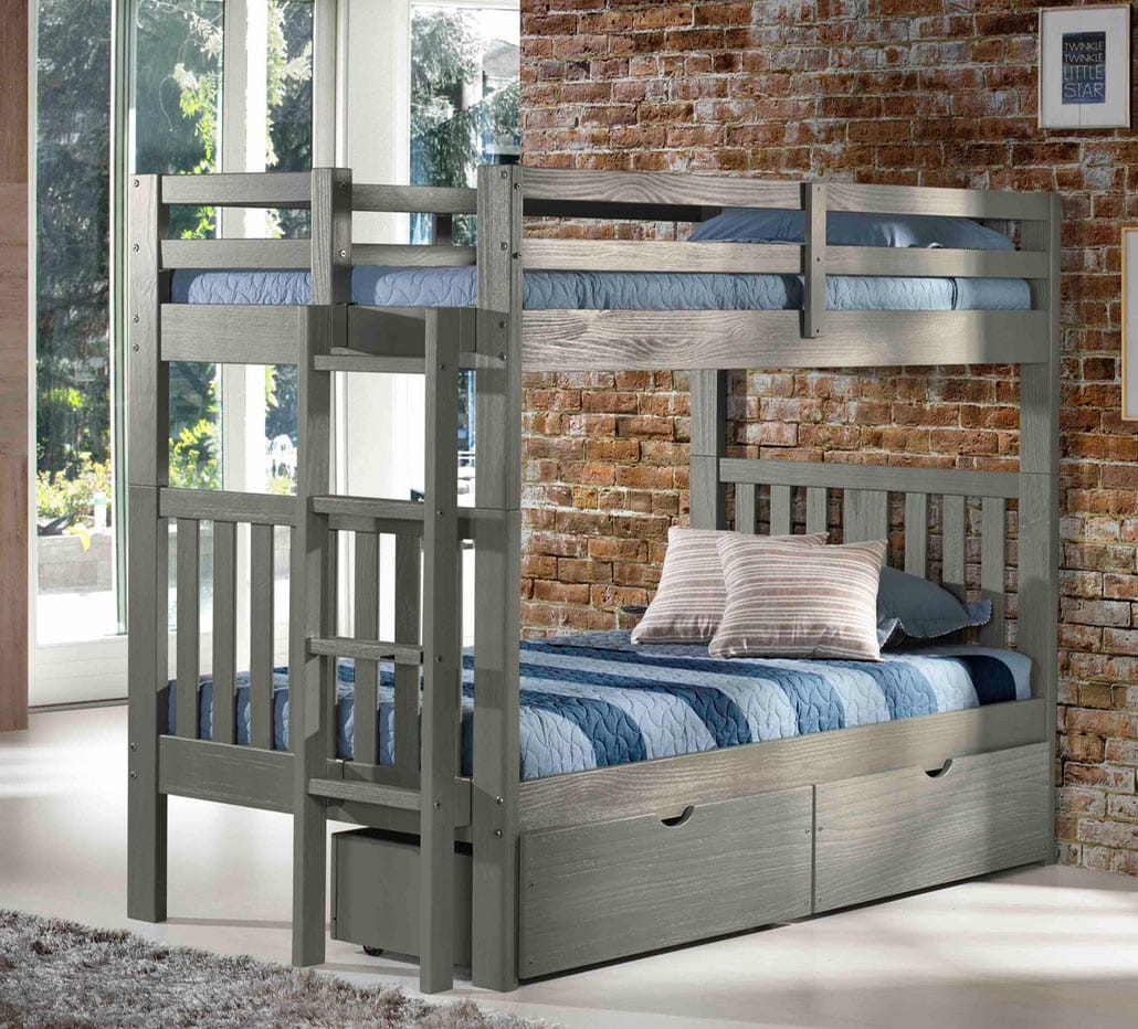Cambridge Bunk Bed Gray by Innovations