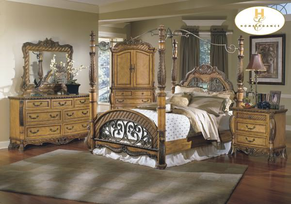 South Beach Bedroom Set w Canopy Bed By Homelegance – Beachy Bedroom Sets