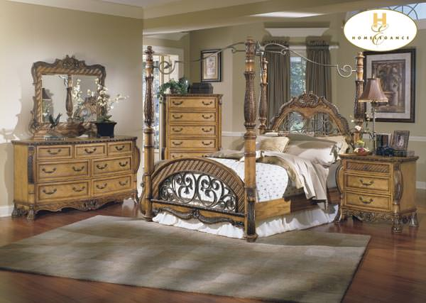 South Beach Bedroom Set w/ Canopy Bed By Homelegance