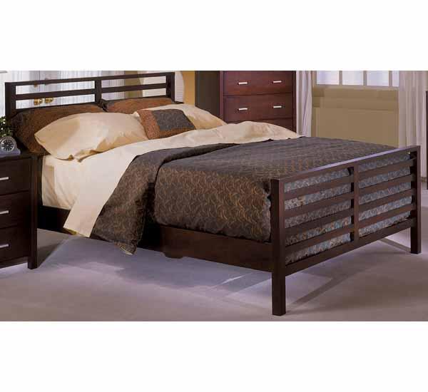 Strata Rake Bed w/ Wood Rails by Homelegance