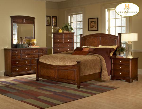 Laurel Heights Cherry Finish Bedroom Set By Homelegance