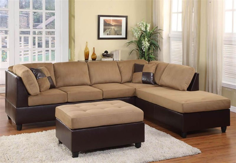9909BR Brown Sectional Sofa Set by Homelegance