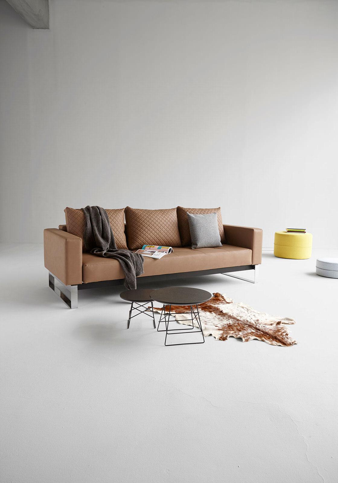 Cassius Quilt Deluxe Sofa Bed Full Size Nubucko Dark Sahara