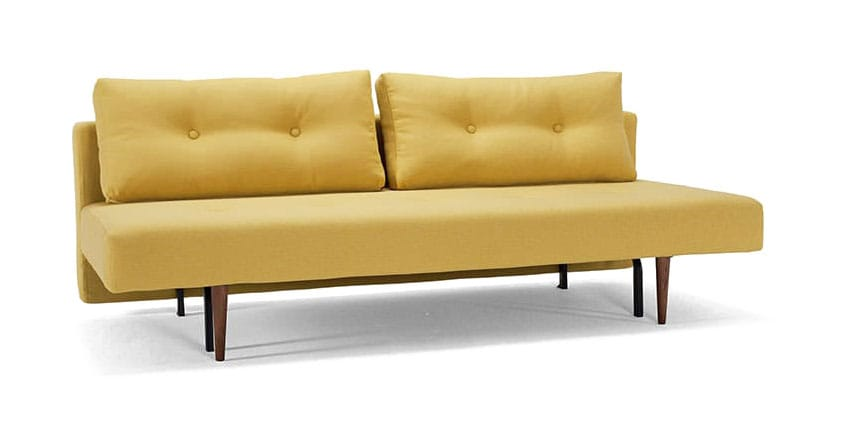 Recast plus sofa bed full size soft mustard flower by innovation Couches bed