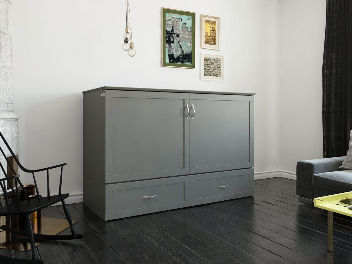 Surprising Hamilton Murphy Bed Chest Bed Antique Gray By Atlantic Customarchery Wood Chair Design Ideas Customarcherynet