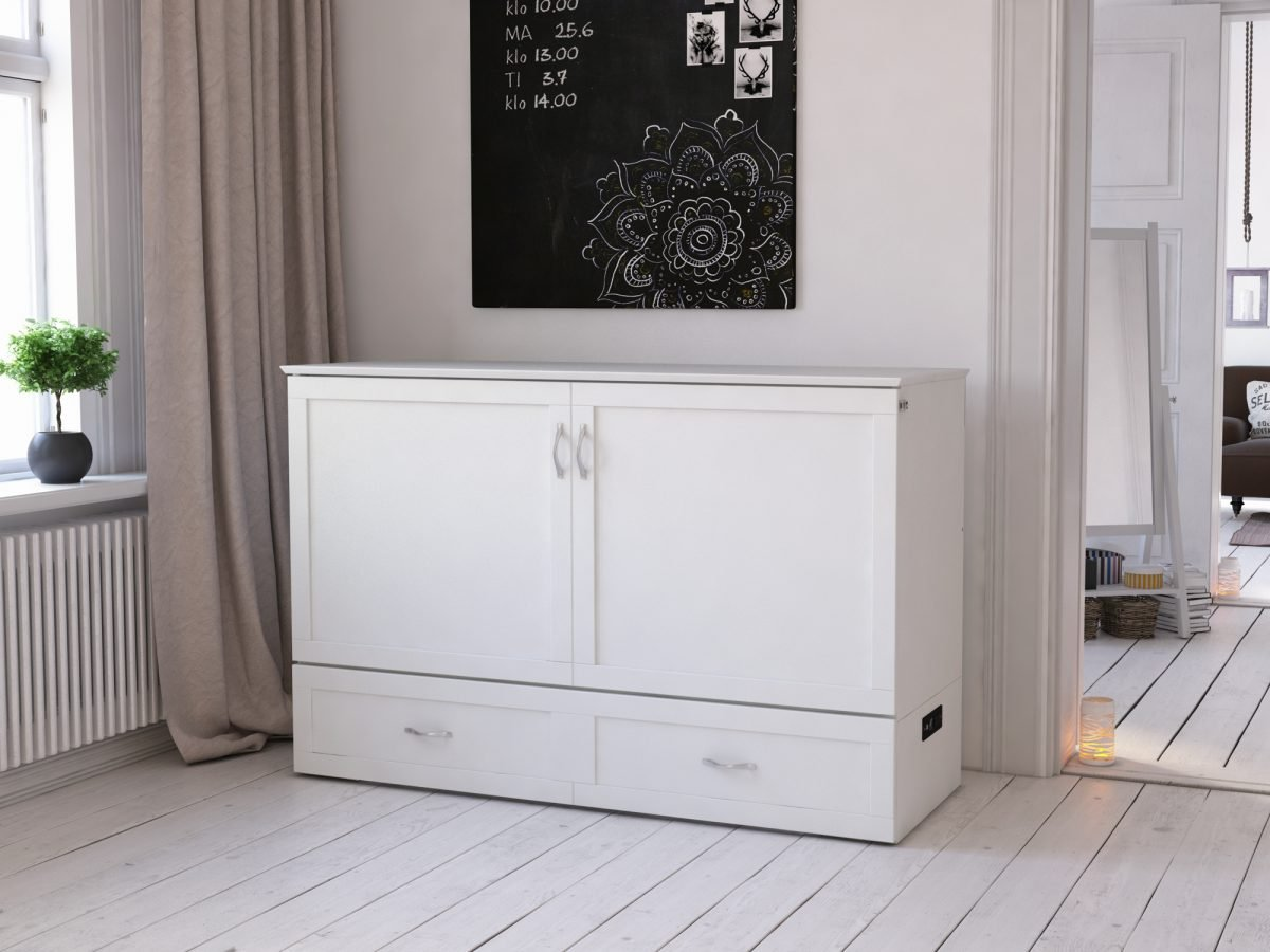 Hamilton Murphy Bed Chest Bed White By Atlantic