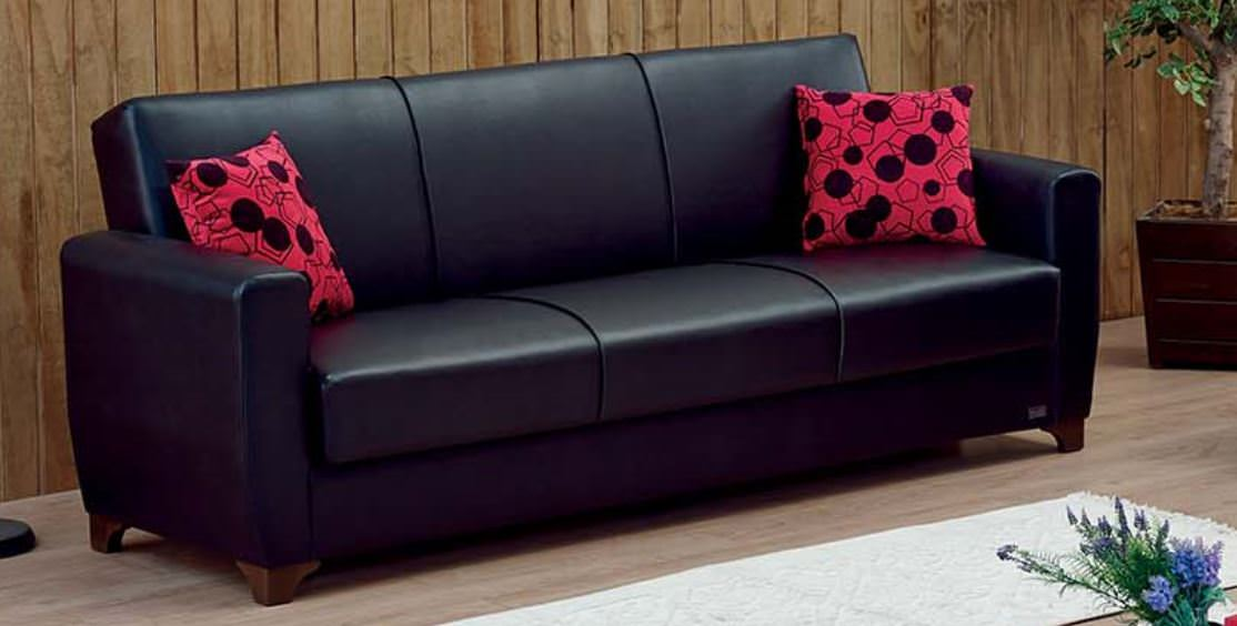 Usa Sofa Bed Harlem Empire By Black Furniture Leather W0k8noxp