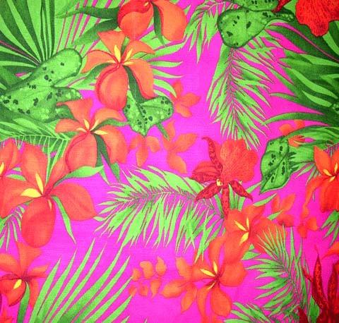 Hawaiian Garden Futon Cover