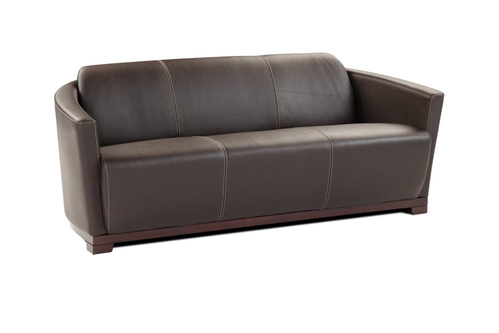 Hotel Premium Italian Leather Sofa Chocolate Brown by J&M Furniture