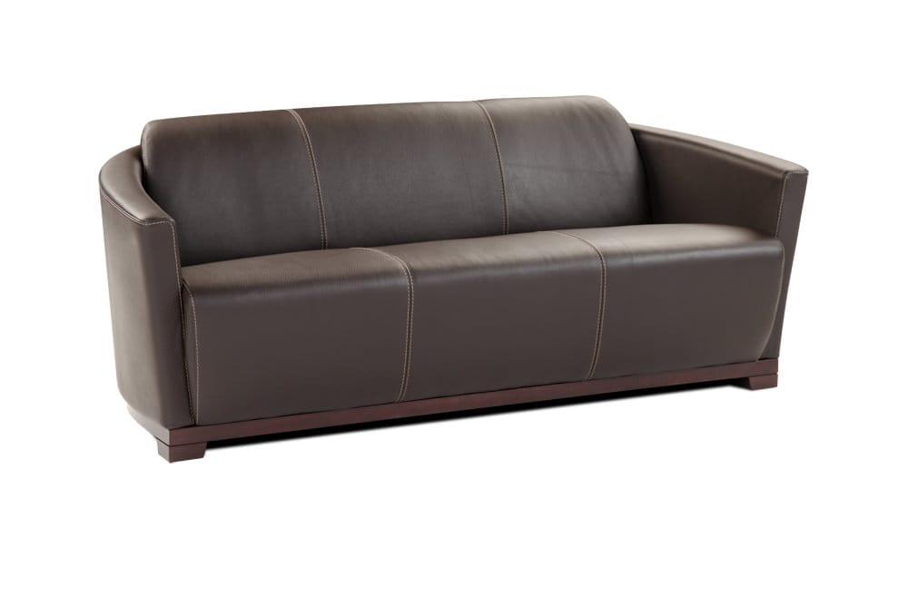 Hotel Premium Italian Leather Sofa Chocolate Brown By J M Furniture