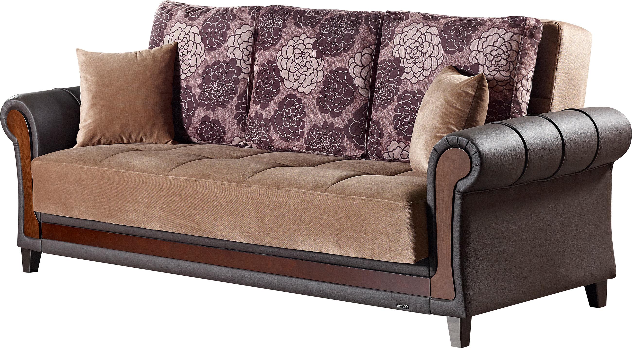 Idaho Brown Fabric Sofa Bed by Empire Furniture USA