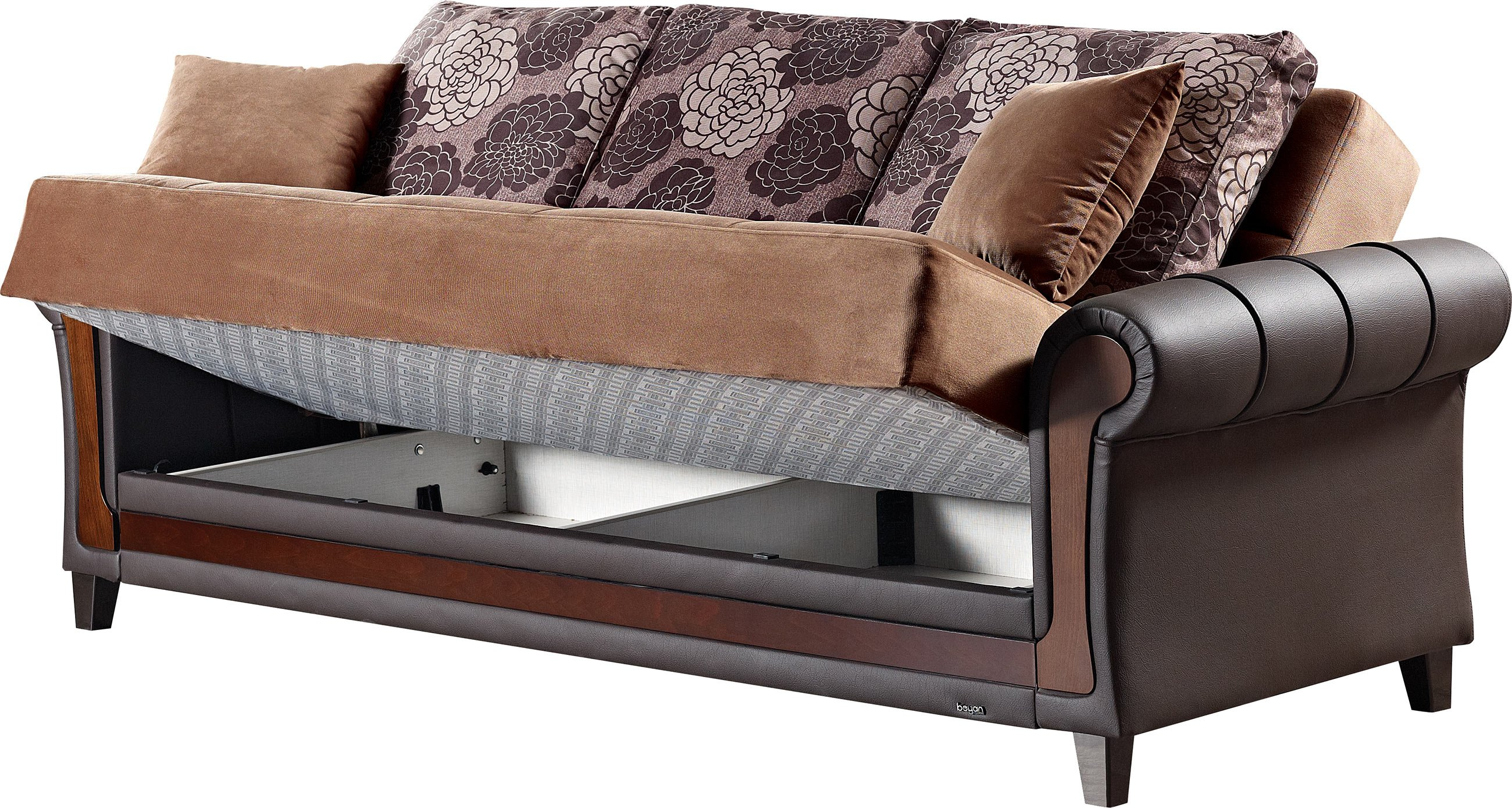 Idaho brown fabric sofa bed by empire furniture usa for Sofa bed name