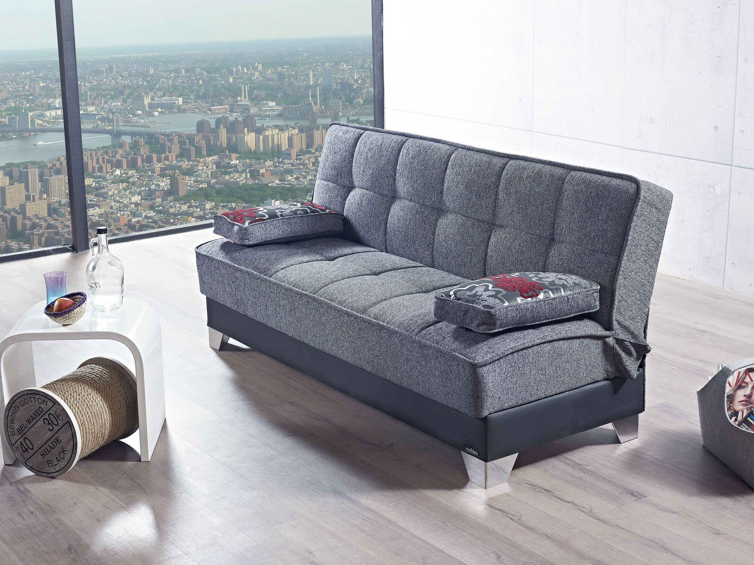 Inter Mebel Dulce Gray Sofa Bed by Mobista