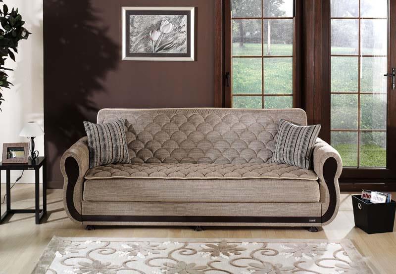 Argos Zilkade Light Brown Convertible Sofa Bed By Istikbal Furniture
