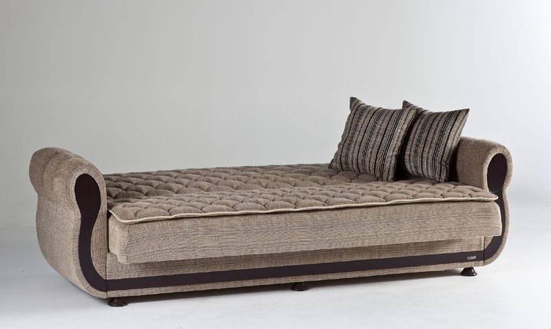 argos zilkade light brown convertible sofa bed by istikbal. Black Bedroom Furniture Sets. Home Design Ideas