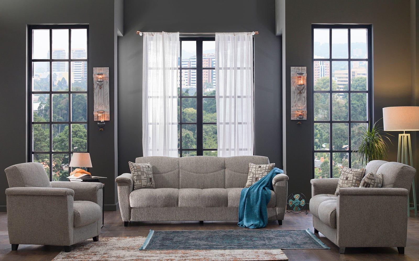 Aspen Aristo Light Brown Sofa Love