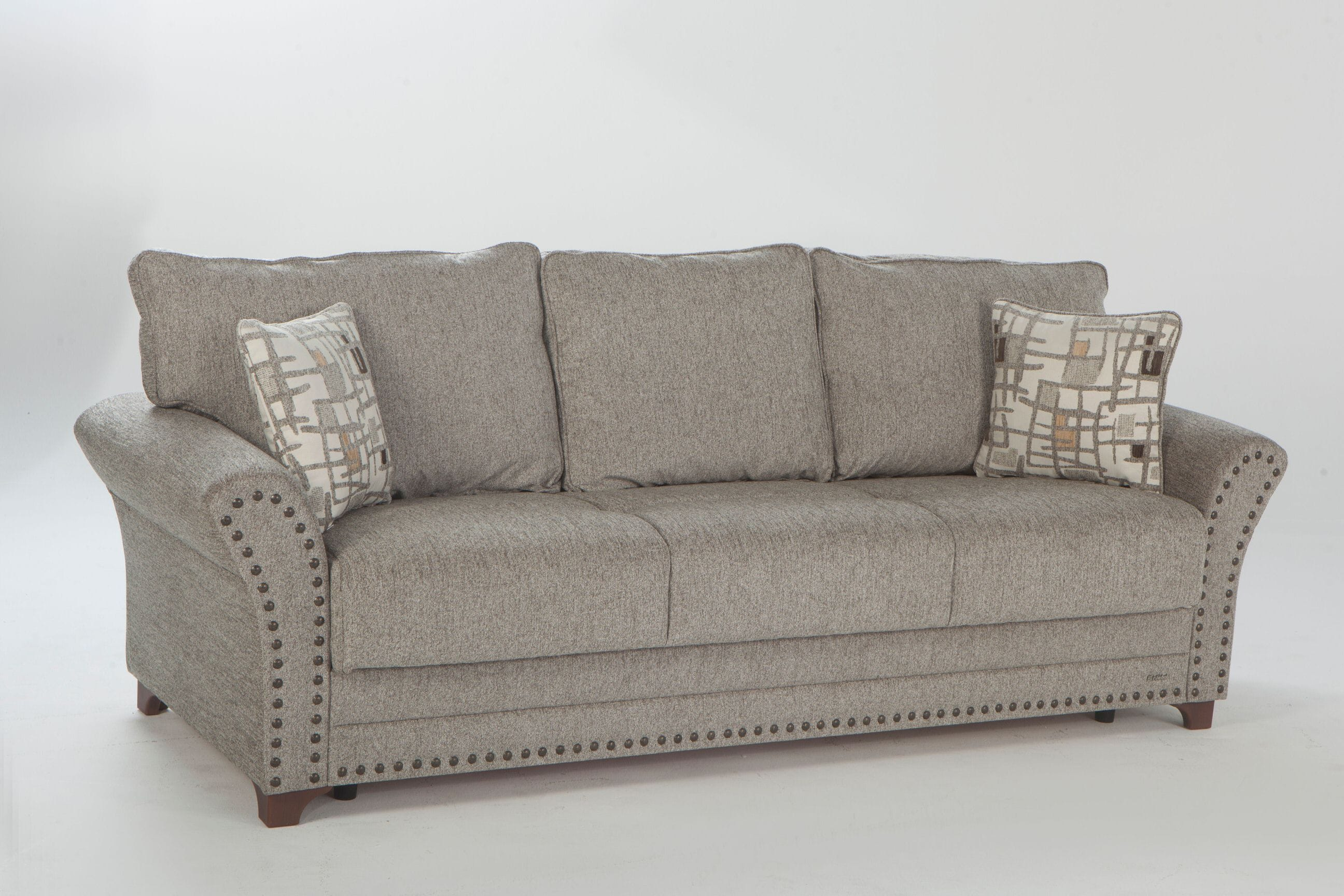 Brady Aristo Brown Convertible Sofa Bed w/ Memory Foam by Istikbal ...