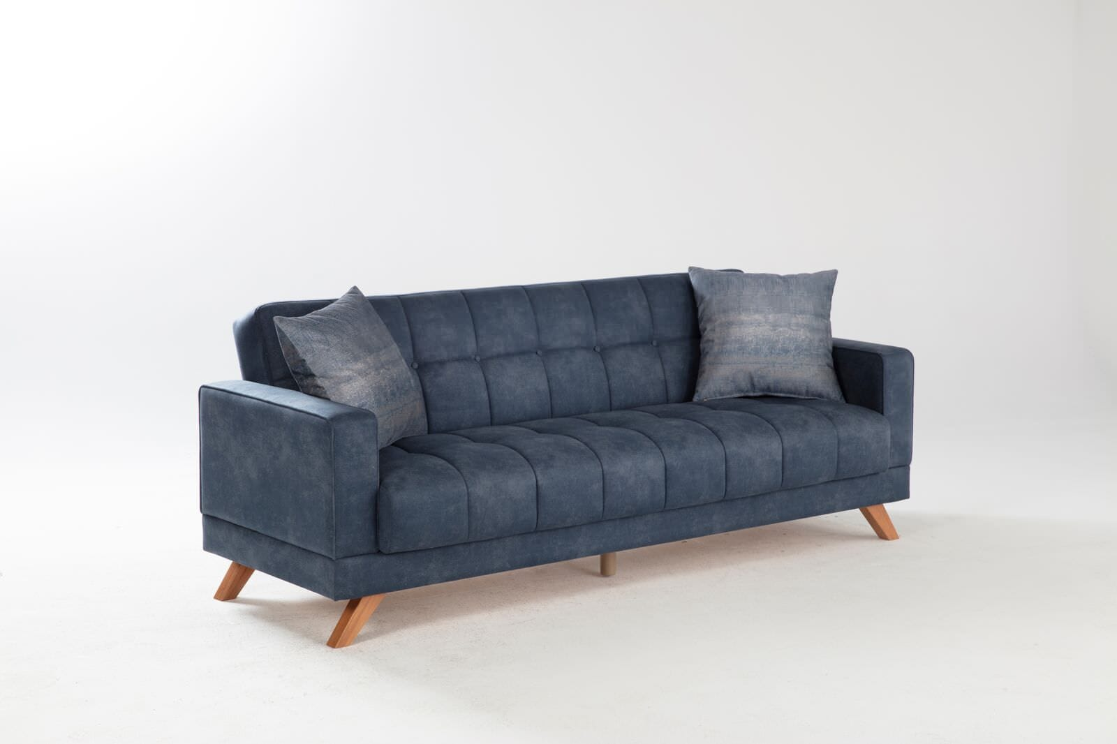 Montana Yakut Navy Convertible Sofa Bed by Istikbal Furniture