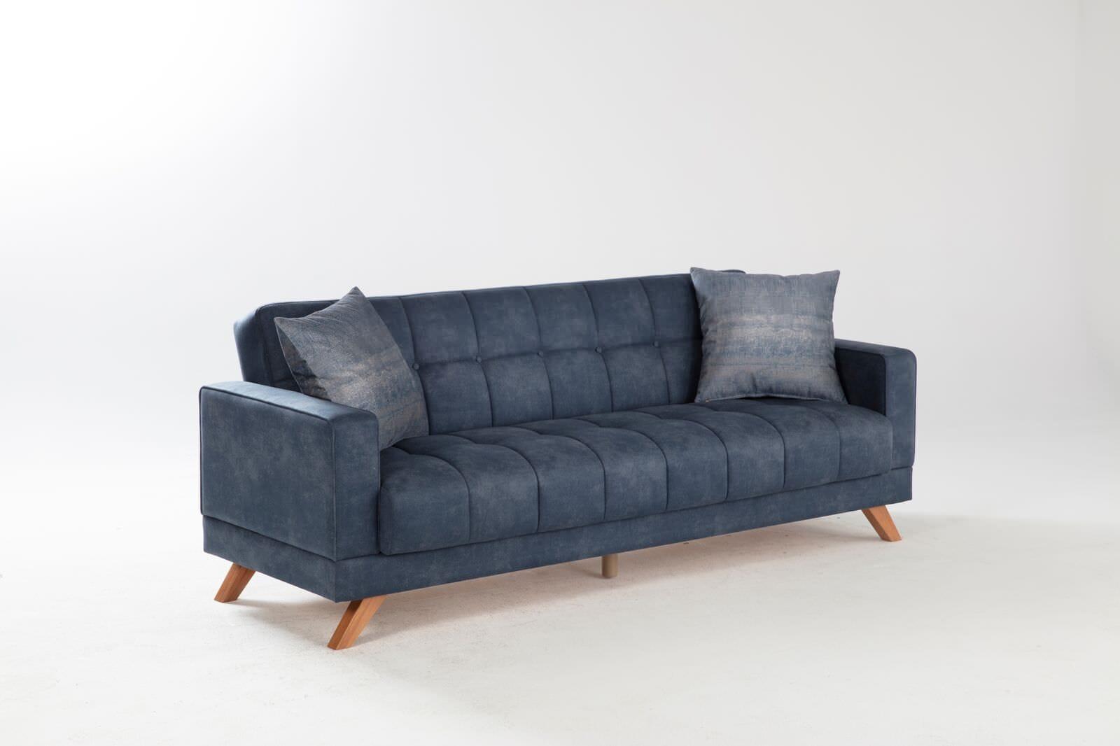 Montana Yakut Navy Convertible Sofa Bed By Istikbal Furniture