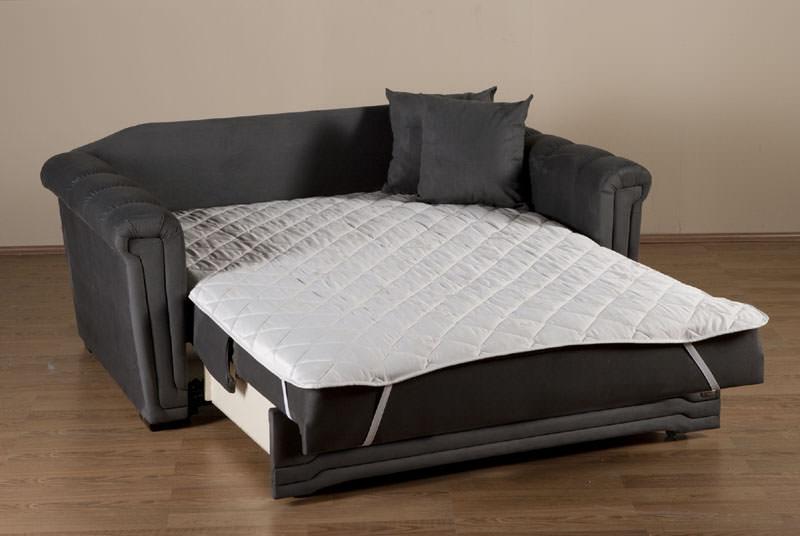 Victoria Loveseat Sleeper In Dark Gray Microfiber By Istikbal