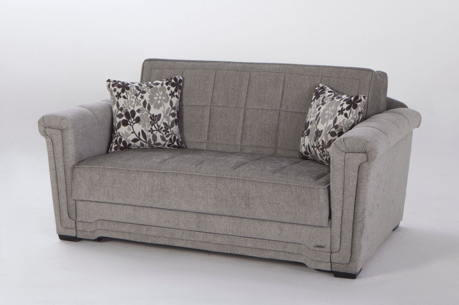 Astonishing Victoria Valencia Gray Loveseat Sleeper By Istikbal Furniture Creativecarmelina Interior Chair Design Creativecarmelinacom
