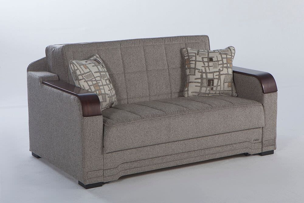 Willow Aristo Light Brown Loveseat Sleeper by Istikbal Furniture
