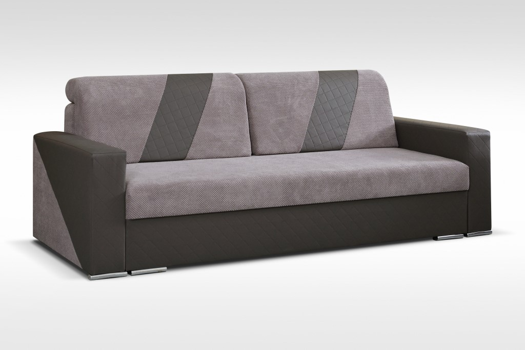 Ines Gray Sofa Bed with Storage by Skyler Designs