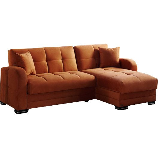 sc 1 st  Futonland : orange leather sectional sofa - Sectionals, Sofas & Couches