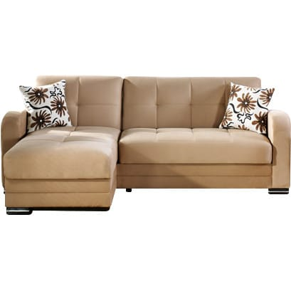 Kubo Rainbow Dark Beige Sectional Sofa by Sunset