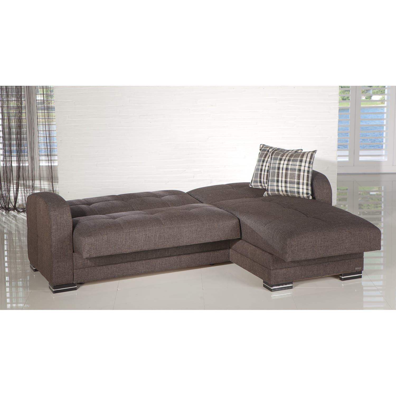 sc 1 st  Futonland : dark brown sectional sofa - Sectionals, Sofas & Couches