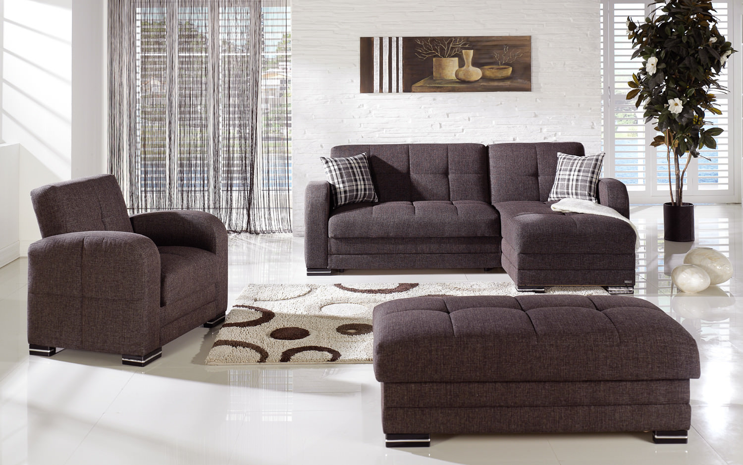: dark brown sectional sofa - Sectionals, Sofas & Couches