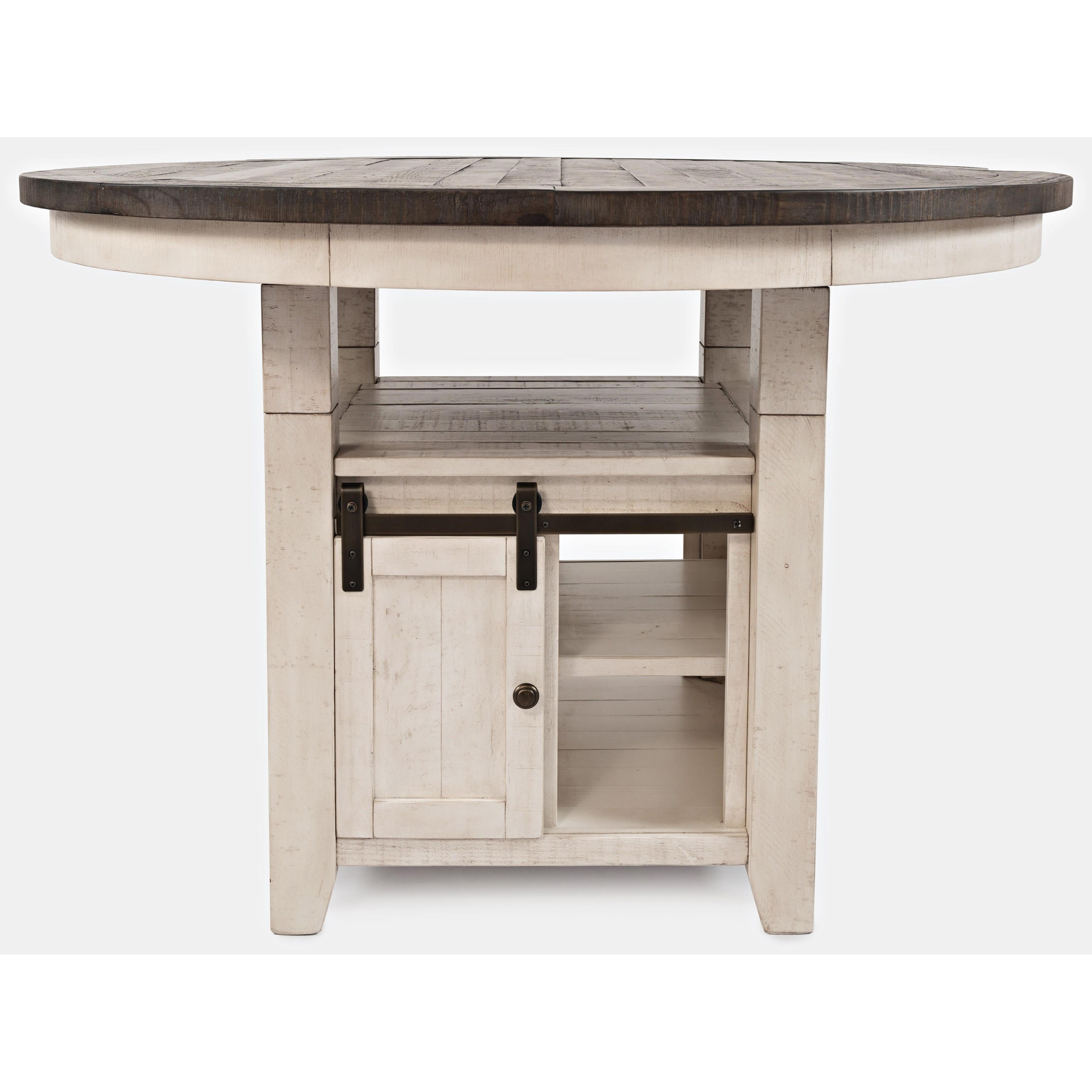 Madison County Beige High/Low Round Dining Table by Jofran ...