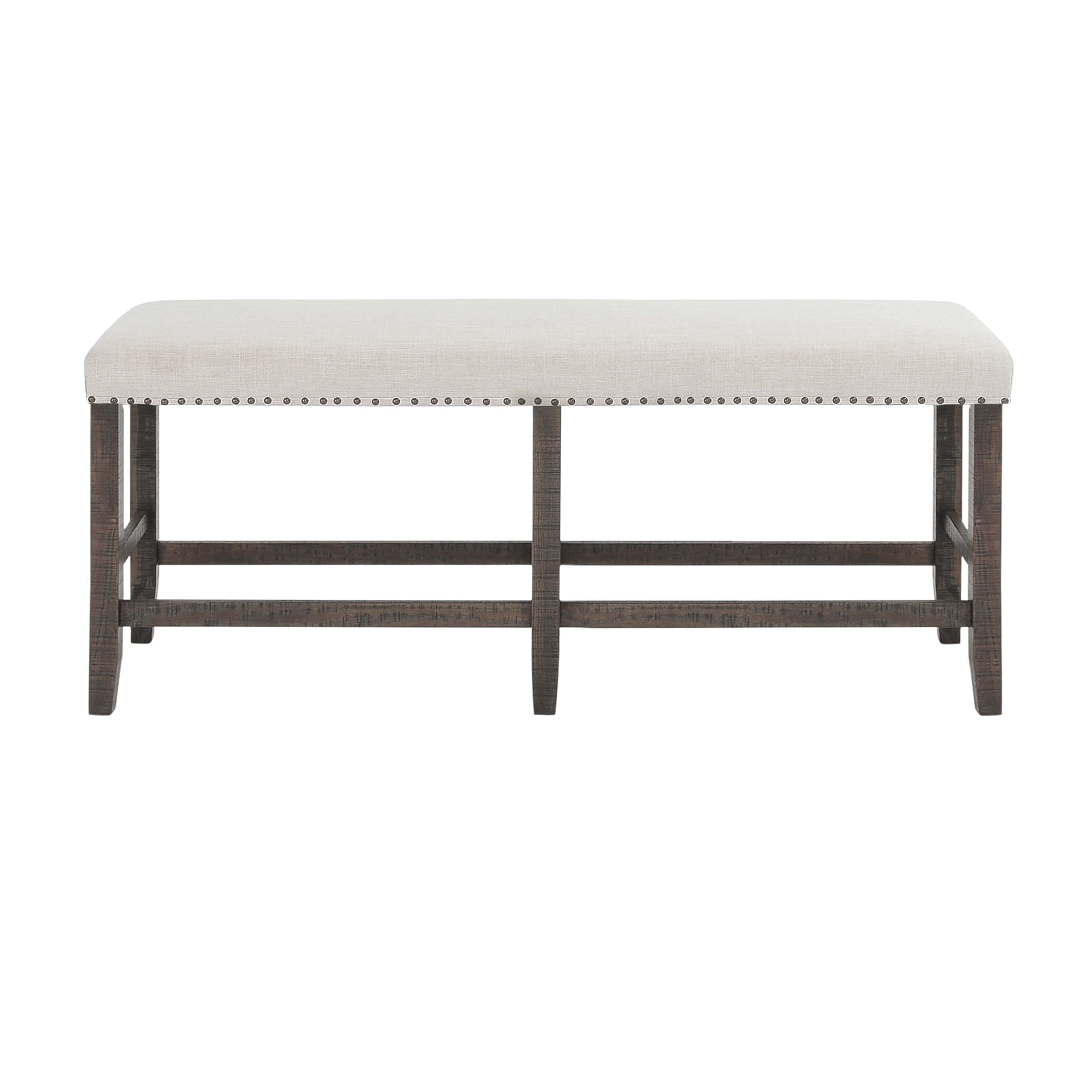 Willow Creek Chocolate Brown Upholstery Counter Height Bench By Jofran