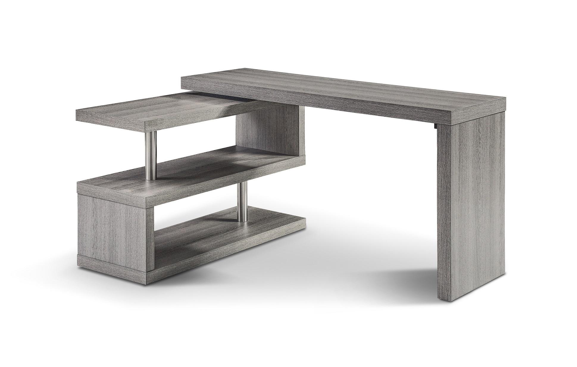 A33 Modern Office Desk In Matte Gray By