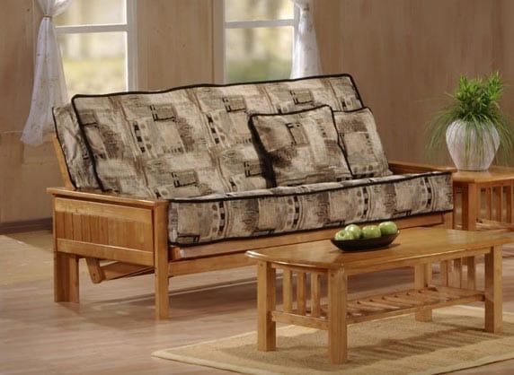Cool Carmel Full Size Chesapeake Futon Set By Jm Furniture Theyellowbook Wood Chair Design Ideas Theyellowbookinfo