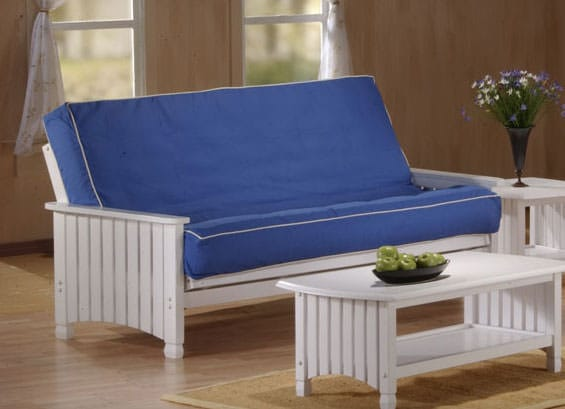 cottage white futon frame by jm furnitures