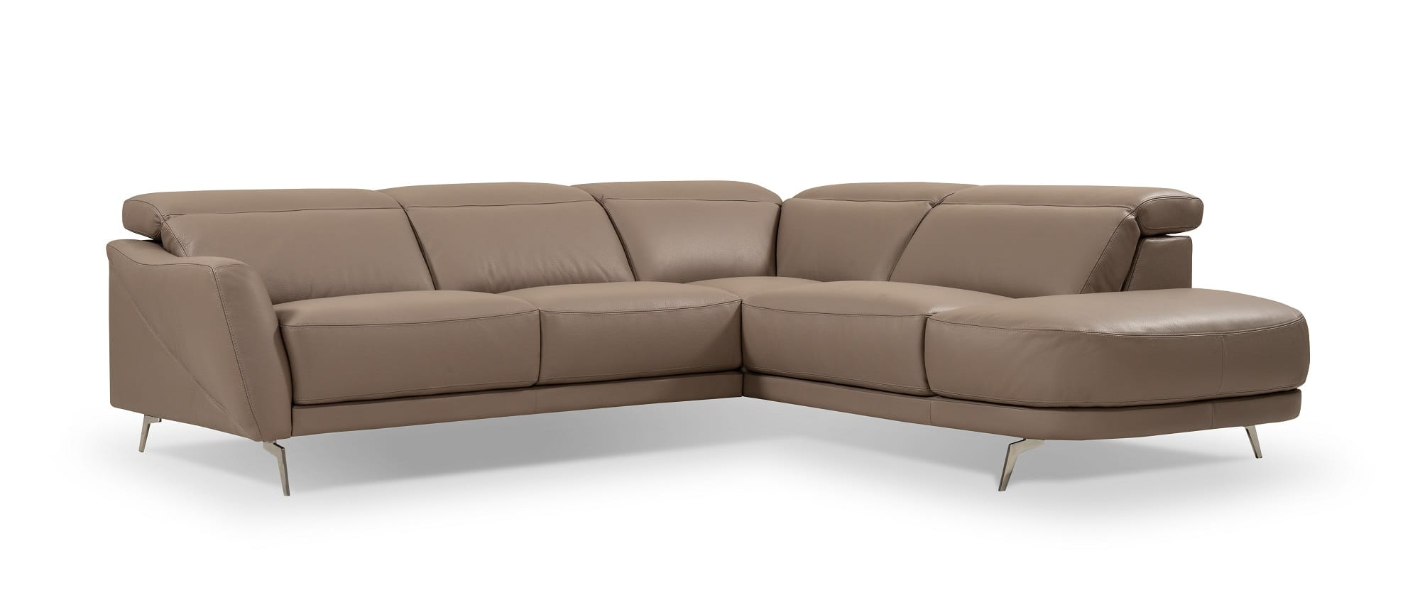I730 Premium Brown Leather Sectional Sofa by J&M Furniture