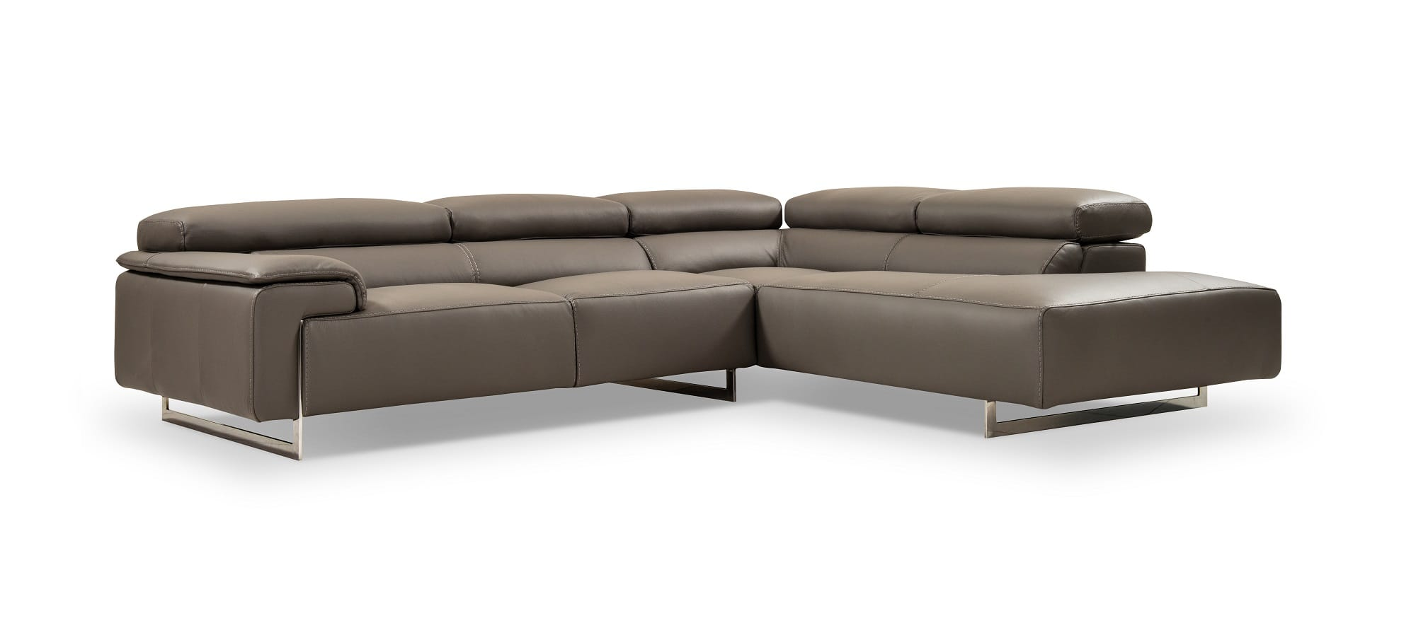 I794 Premium Grey Leather Sectional Sofa by J&M Furniture