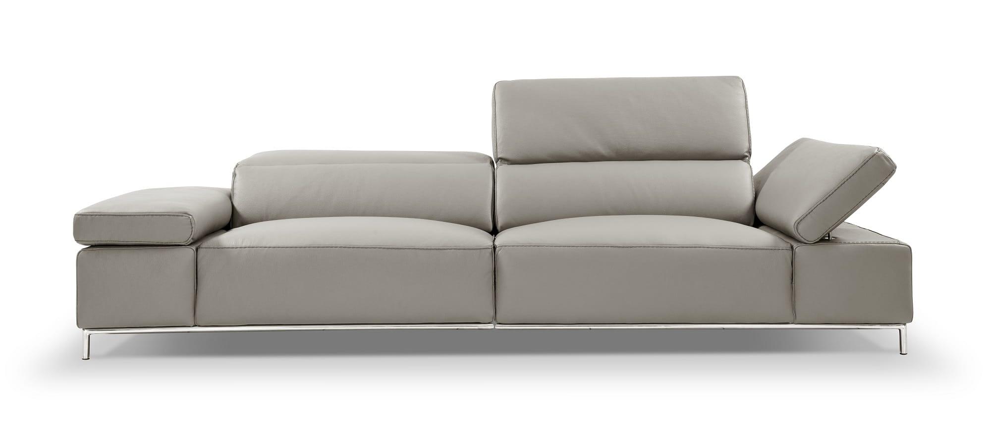 I800 Light Grey Leather Sofa by J&M Furniture
