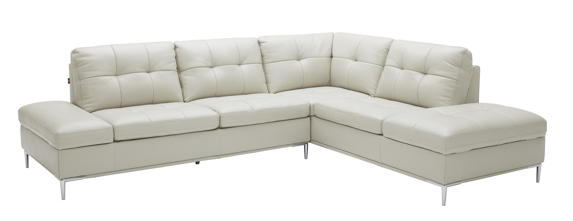 Leonardo Silver Grey Sectional Sofa w/Storage by J&M Furniture
