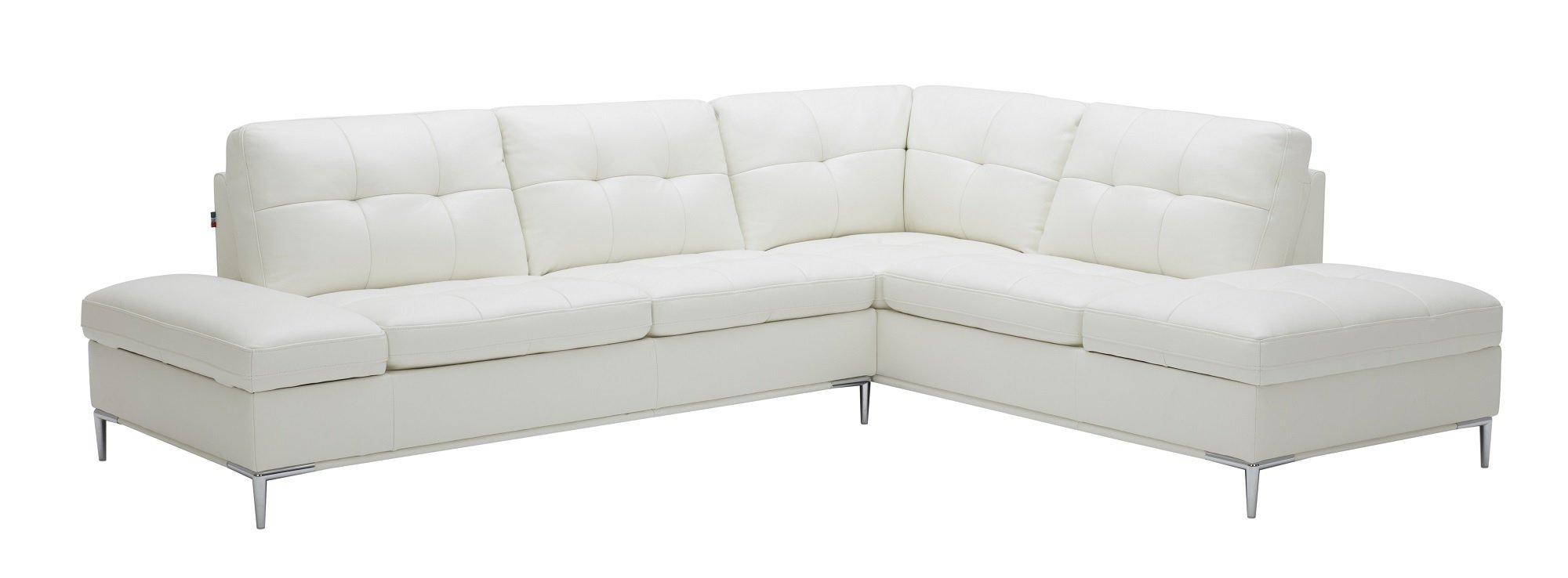 Leonardo White Sectional Sofa w/Storage by J&M Furniture
