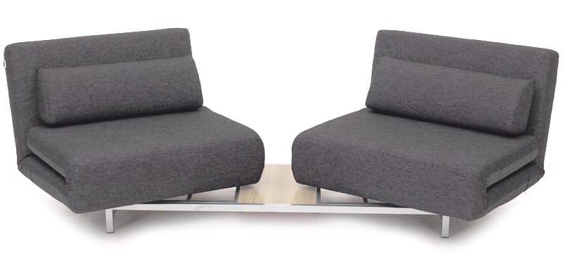 Swivel Convertible Charcoal Gray Fabric Sofa Bed LK06-2 by IDO