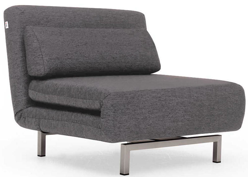 Convertible Charcoal Gray Fabric Chair Bed Lk06 By Ido
