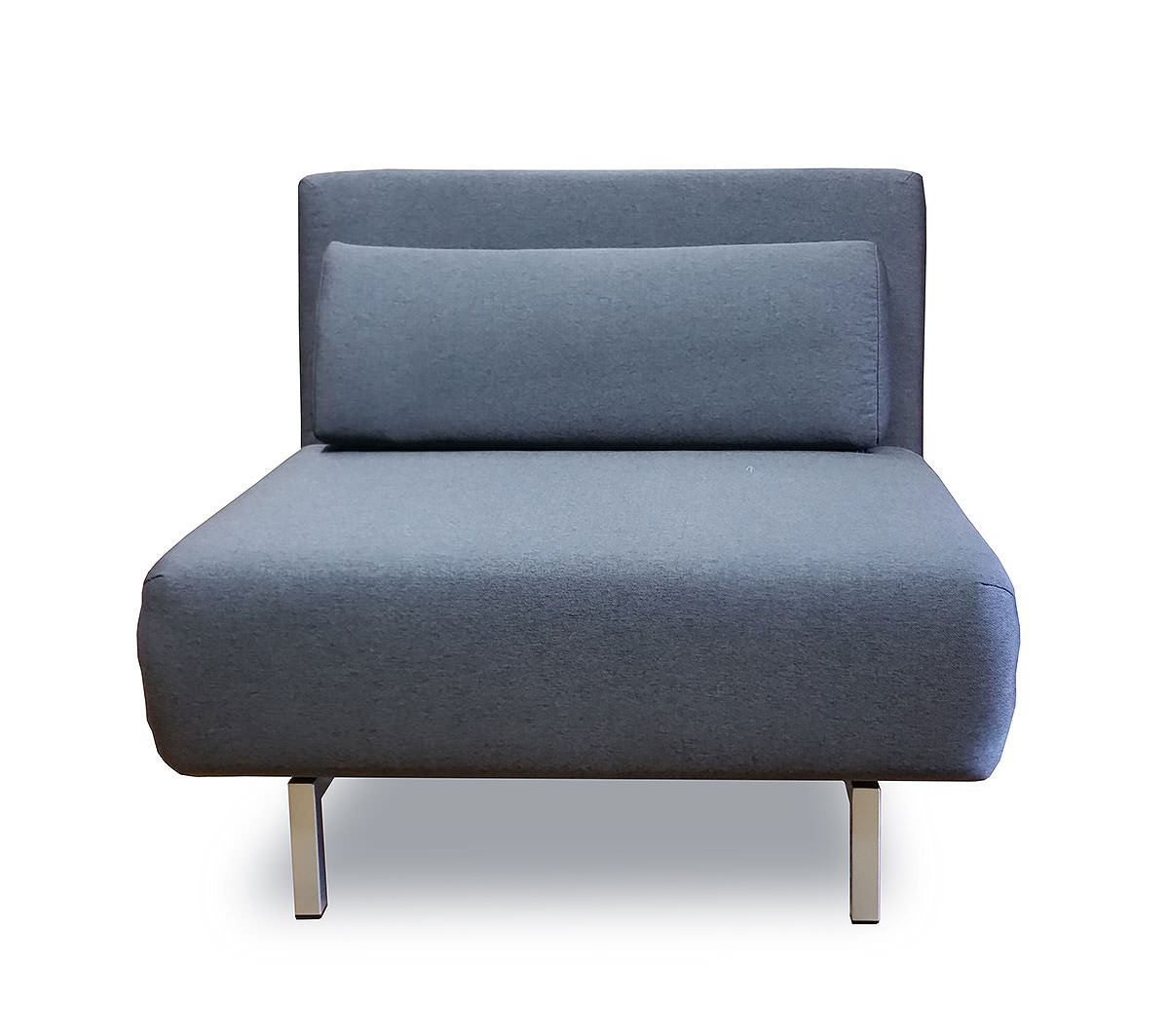 Convertible Gray Fabric Chair Bed LK06 by IDO