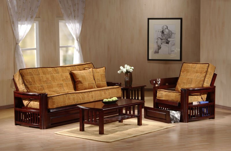 Tudor queen size rosewood futon set by prestige for Tudor furnishings