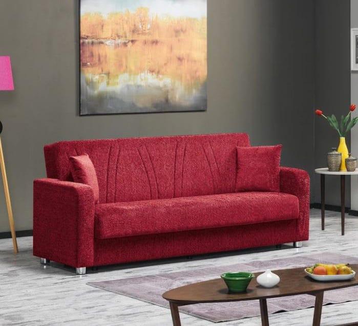 Joker Red Convertible Sofa by Casamode